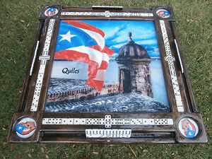 Details About Domino Tables By Art With Puerto Rico Morro Puerto Rican Flag