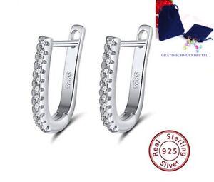 Creolen-Oval-925-Silber-Zirkonia-Kristalle-Ohrringe-Damen-Ohr-Schmuck-Geschenk