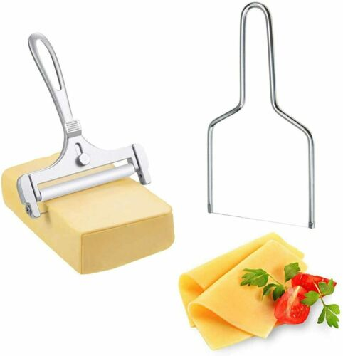 Details about  /Cheese Slicer Wire Butter Cutter Stainless Steel Adjustable Thickness