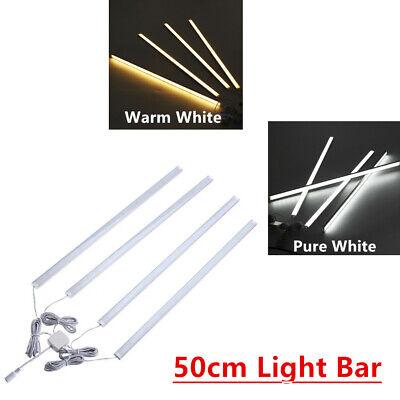 4Pcs 50CM Kitchen Under Cabinet Counter Lighting LED Showcase Rigid Strip Light