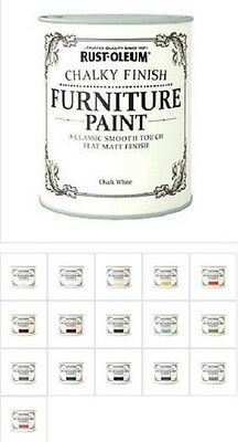 Rust-Oleum Shabby Chic Rustic Chalk Chalky Furniture Paint 125ml Vintage Paints