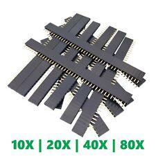 40 Socket Female Header 01 254mm Pcb Strip Connectors 10204080 Piece Packs