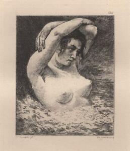 Gustave-Courbet-Une-baigneuse-en-mer-Nu-Eau-Forte-Charles-Courtry-XIXe