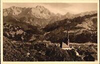Garmisch PARTENKIRCHEN Bayern ~1925 Teilansicht Alpen Panorama Dreitorspitze