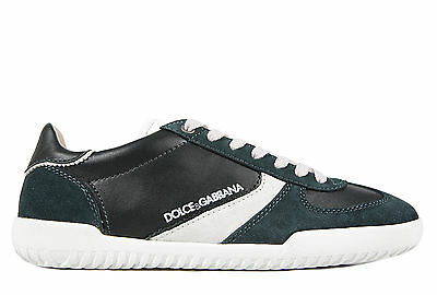 DOLCE&GABBANA MEN'S SHOES LEATHER TRAINERS SNEAKERS NEW RIDER GREEN  A22