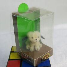 Cute Vintage ARA Hand Made Wool llasa apso poodle dog red collar figurine MIB