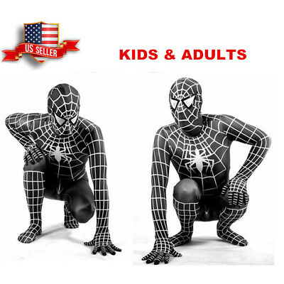 US!Adults Kids The Amazing Spider-Man 3D Print Venom Zentai Cosplay Costume Prop