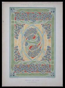 TAPIS- BONVALLET -1901- LITHOGRAPHIE- ART NOUVEAU 1HGh7cfB-07195718-384050101