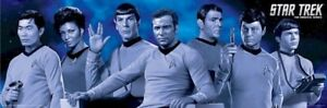 STAR-TREK-TOS-BLUE-CAST-SLIM-12x36-POSTER-TV-Original-Series-Spock-Kirk-McCoy