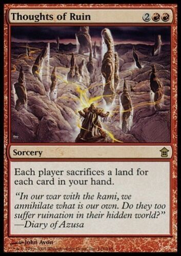MTG 4x THOUGHTS OF RUIN SoK *Rare Destroy Lands*