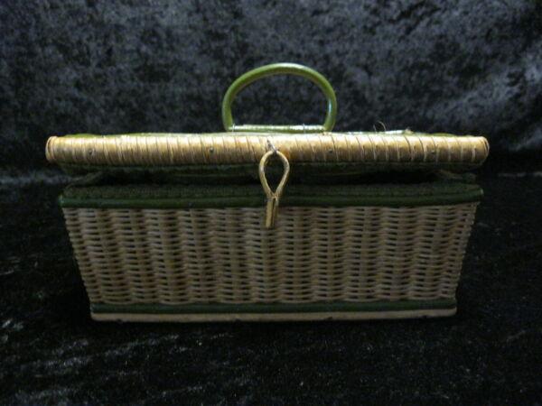 Brillant Style Ancien Biedermeier Couture Boîte à Trachtenkorb - Panier Tressé - Um 1870 Et Aide à La Digestion