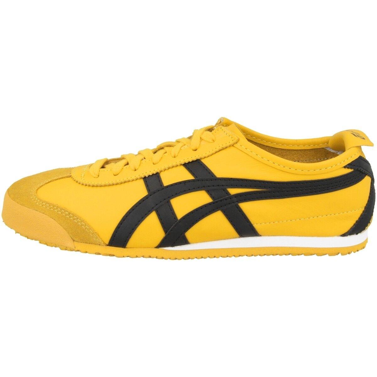 Asics Onitsuka Tiger dl408-0490 méxico 66 zapatos Yellow Black dl408-0490 Tiger retro cortos 261ee2