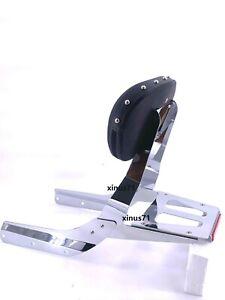 New-Sissy-Bar-Backrest-With-Luggage-Rack-Stud-Pad-Honda-VTX-1300-1800-R-S-models