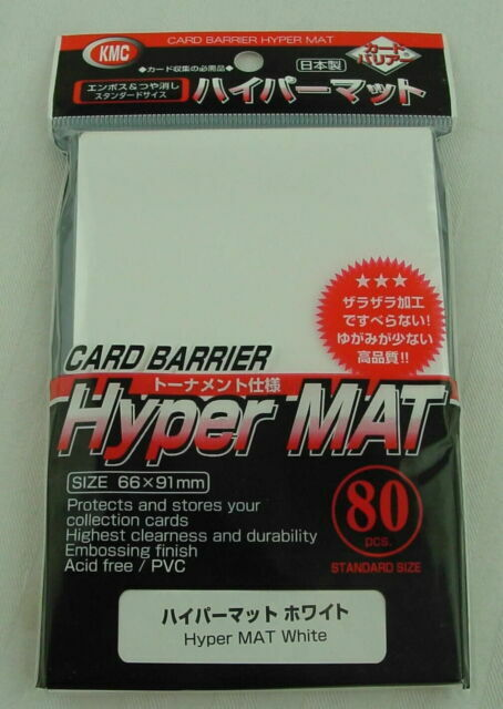 80ct ✰Magic MTG Pokemon Card Game Sleeves KMC Hyper Matte White Sleeves