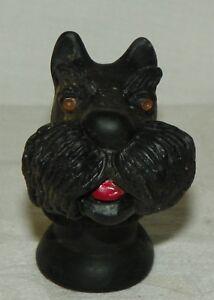 Vintage-Dog-Hand-Puppet-Rubber-Face-Scottie-Dog-Scottish-Terrier-Schnauzer-Japan