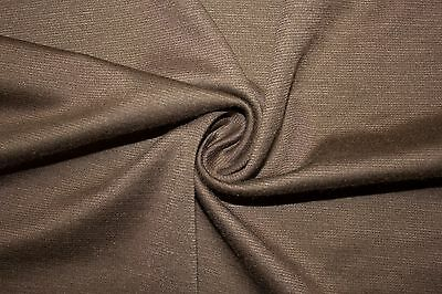 Taupe Ponte Double Knit 95/% Polyester 5/% Spandex Lycra Stretch Fabric BTY