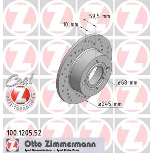 2 Zimmermann Sport-Bremsscheiben hinten AUDI 80 90 100 COUPE