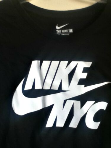 Noir shirt 914290 010 T 100 Authentique Cotton Nike Nyc xCYHXPwq