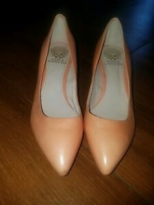 Vince-Camuto-GOLDIE-Womens-coral-Leather-Classic-Heels-Pumps-Size-8-5