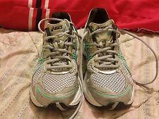 ASICS Women's GEL Fortitude 3 TQ8B7 Running Shoe Gray Mint Tennis shoe Size 7.5