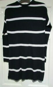 NEW-NAVY-CREAM-STRIPE-JUMPER-DRESS-SIZE-MEDIUM-12-14-YESSICA