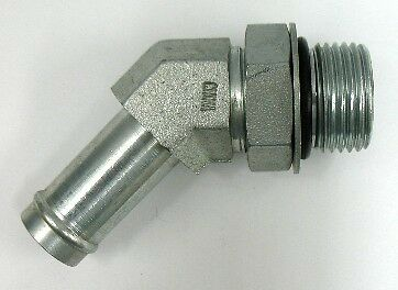 X 1 Hose Barb 45 Elbow AF 4603-16-16-1 Male O-Ring Boss 1-5//16/'/'-12