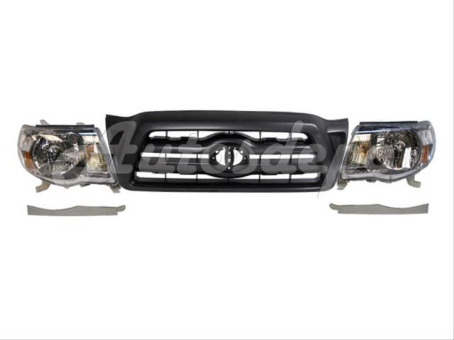 Under Headlight For 2005-2011 Tacoma Lower Grille Filler Panel Chrome Lh