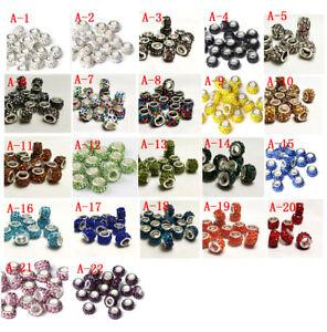 new-50pcs-Czech-crystal-big-hole-Beads-Fit-DIY-European-Charm-Bracelet-wholesale