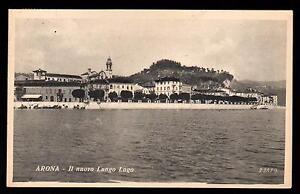 LAGO-MAGGIORE-ARONA-NOVARA-CARTOLINA-IL-NUOVO-LUNGO-LAGO-FP-VG-1936