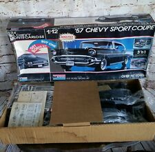 MONOGRAM 1/12 SCALE '57 CHEVY SPORT 3'n1 COUPE W/1/24 86 MONTE SS MODEL RARE
