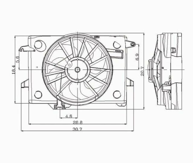 Dual Radiator and Condenser Fan fits 1998-2000 Mercury ...