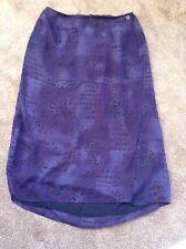Women's Size 24 Long Modest Faux Wrap Around Skirt