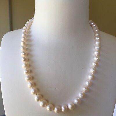 Huge natural freshwater 12-13.5mm elegant pearl necklace 45cm length AB #0115