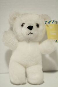 "Applause #12003 White Mini ""Teddy Grams"" Plush Toy Doll 1986"