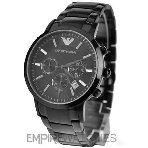 NEW-MENS-EMPORIO-ARMANI-BLACK-ION-PLATED-WATCH-AR2453-RRP-399-00