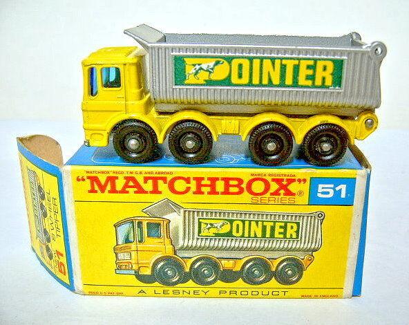 Matchbox RW 51C 8 Wheel Wheel Wheel Tipper gelb & silber  Pointer  in  F  Box  | Düsseldorf Eröffnung  21f3ae