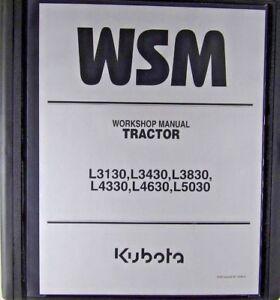 Kubota-L3130-L3430-L3830-L4330-L4630-L5030-Service-Workshop-Repair-Manual