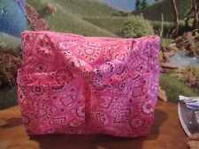 homemade baby doll diaper bag berenguer/american bitty baby D pink