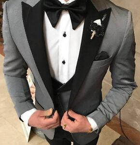 costume de gris taille costume Costume costume gris mariage ajust de pour homme 5vRYnvwxq