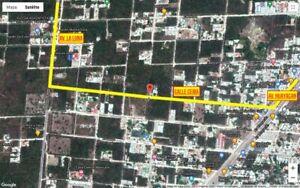 Terreno Venta Cancun con dos deptos en obra gris con uso de suelo