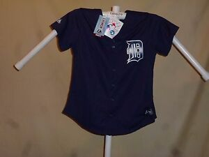 c71669c95 Image is loading DETROIT-TIGERS-Majestic-Ladies-JERSEY-Womens-Small-sz-