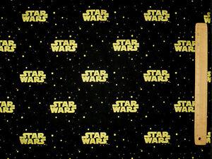 8-YARDS-STAR-WARS-LOGO-FABRIC-GALAXY-CAMELOT-COTTONS-GOLD-METALLIC-QUILTING-BOLT