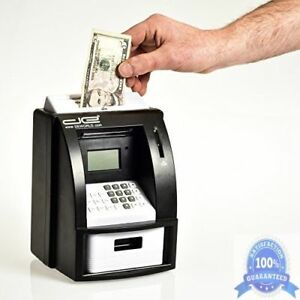Electronic Coin Money Counter Bill Slot Kids Atm Box Safe