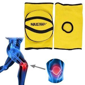 MMA Elasticated Gel Padded Work Wear Knee Pad Protector Brace Support Heavy Duty
