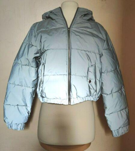 Forever 21 Reflective Oversized Puffer Jacket Medi