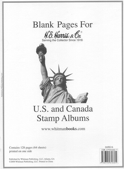 He Harris Blank Pages US Un Canada Stamp Albums 64 Sheets High Quality  Papers