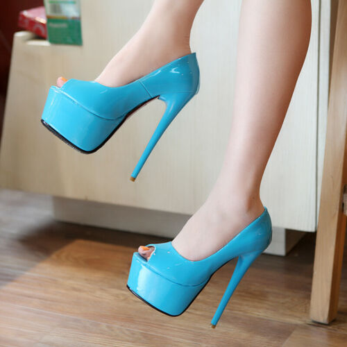 Details about  /Patent-leather High Heels Women/'s Party Shoes Summer Sandals Nightclub