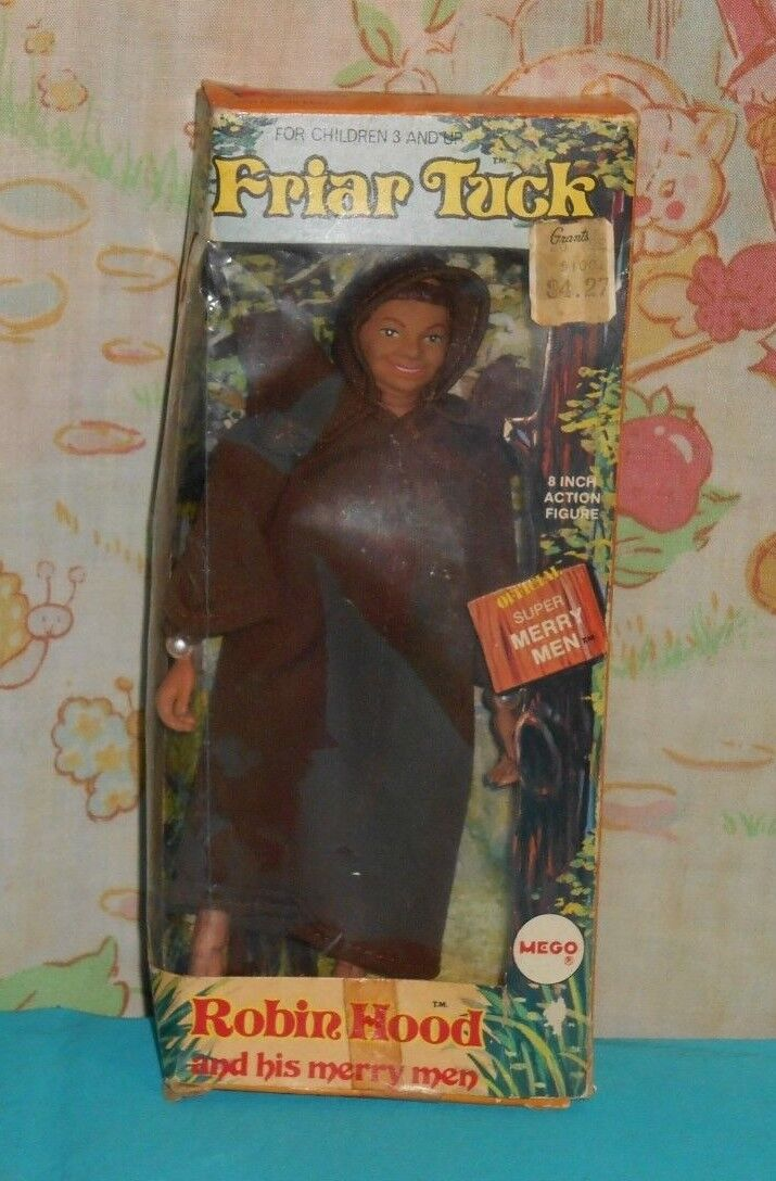 Vintage Mego Robin Hood e his Super Merry essi 8 FRIAR TUCK in original scatola
