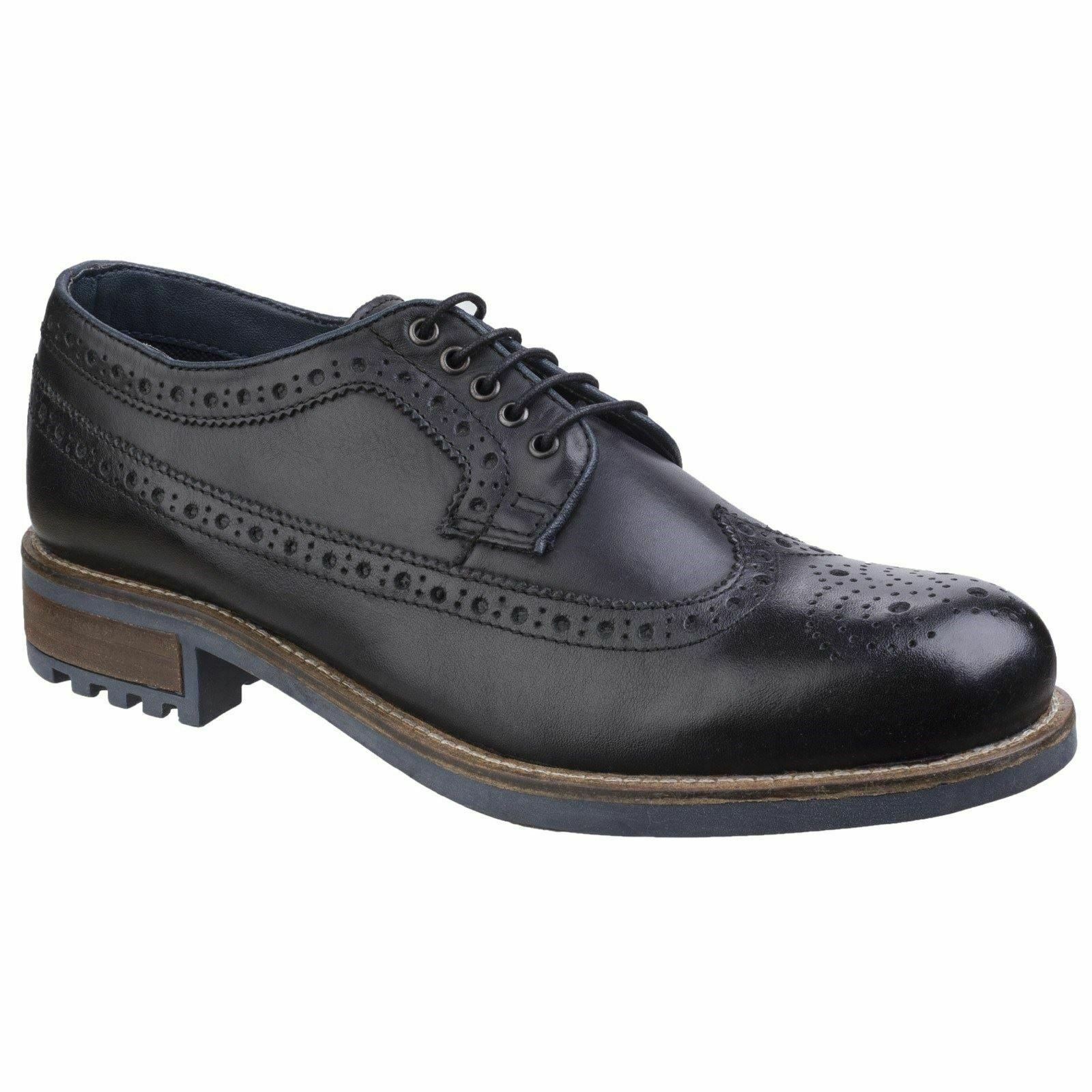 Cotswold Poplar Black Lace Mens shoes Leather