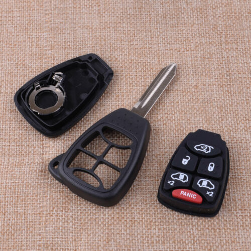 6 Button Remote Key Fob Case Shell+Key Blade Fit for Chrysler Town/&Country Dodge
